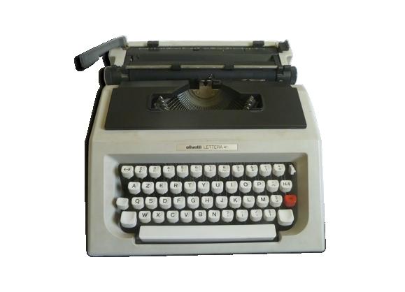 machine a crire olivetti lettera 41 plastique gris bon tat vintage. Black Bedroom Furniture Sets. Home Design Ideas
