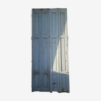Série de 4 volets portes boiseries bois peint