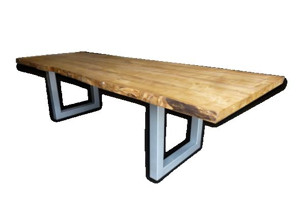 Superbe grande table industrielle pieds U de 3m