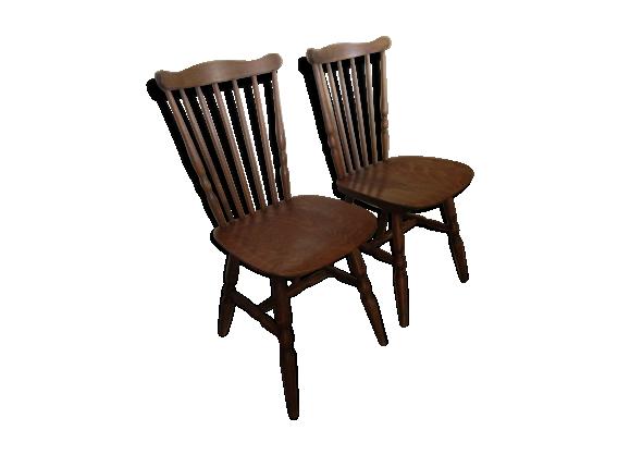 lot de chaises baumann bistrot bois mat riau marron dans son jus scandinave. Black Bedroom Furniture Sets. Home Design Ideas