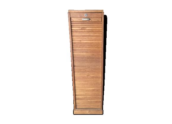 classeur rideau bois mat riau bois couleur dans son jus classique. Black Bedroom Furniture Sets. Home Design Ideas