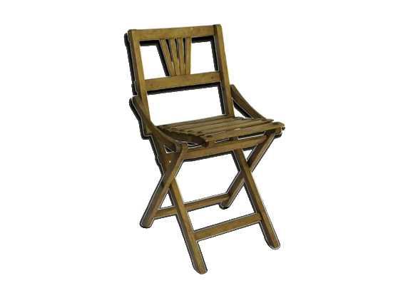 Chaise de pêche en bois pliante