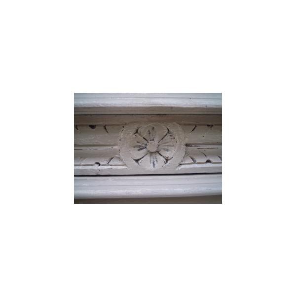 Tête de lit ancienne époque 1900  bois (Matériau)  gris