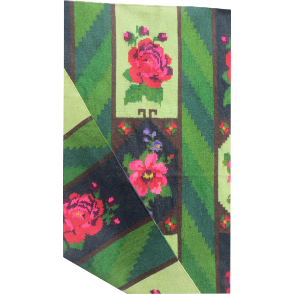 Tapis kilim vert pomme et rose tissu multicolore bon tat art d co 149910 Tapis cheval vert pomme