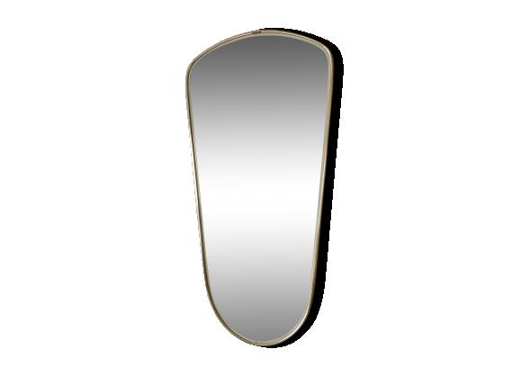 miroir asym trique r troviseur 65x33 1960 laiton dor bon tat vintage. Black Bedroom Furniture Sets. Home Design Ideas