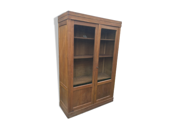 armoire vitrine en ch ne bois mat riau bois couleur. Black Bedroom Furniture Sets. Home Design Ideas