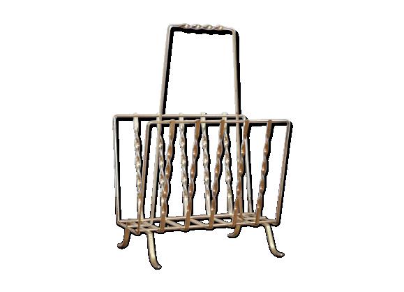 porte revues vintage m tal dor bon tat vintage 12001d7e089c3cf8826bdfd352b1b2a5. Black Bedroom Furniture Sets. Home Design Ideas