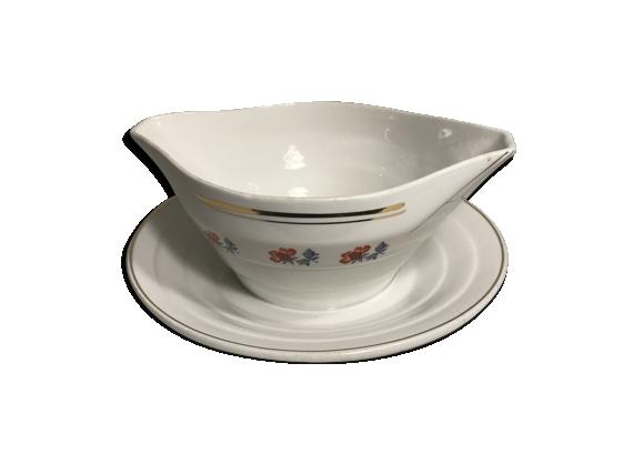 Ancienne saucière porcelaine Saint Amand