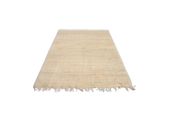 tapis beni ouarain teint 250x150 cm tissu blanc bon tat design. Black Bedroom Furniture Sets. Home Design Ideas