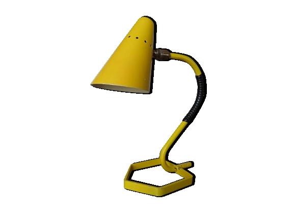 Lampe cocotte jaune à rotule typique années 50 60