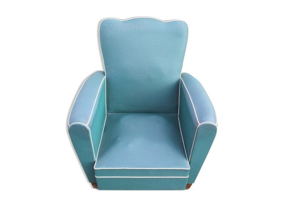 fauteuil club moustache vinyle vert ann es 50 60 ska vert dans son jus vintage. Black Bedroom Furniture Sets. Home Design Ideas