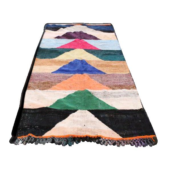 tapis kilim berb re 275x130cm tissu multicolore bon. Black Bedroom Furniture Sets. Home Design Ideas