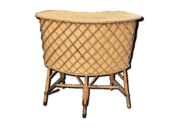 meuble rotin vintage. Black Bedroom Furniture Sets. Home Design Ideas