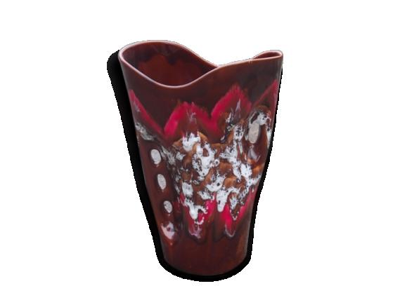 Grand vase en céramique émaillée des années 50 - 60.
