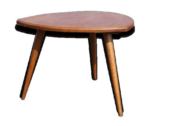Grande table basse tripode chêne clair