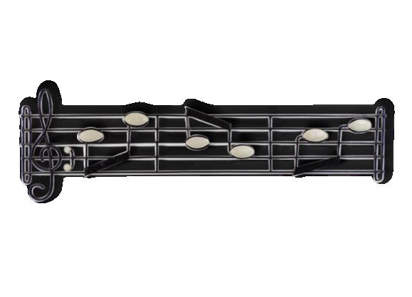 porte manteau notes de musique en fer forg fer noir dans son jus vintage 136999. Black Bedroom Furniture Sets. Home Design Ideas