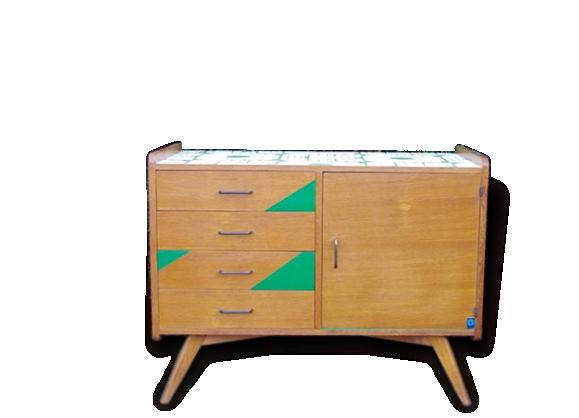 Meuble rangement vintage for Meuble bureau 974