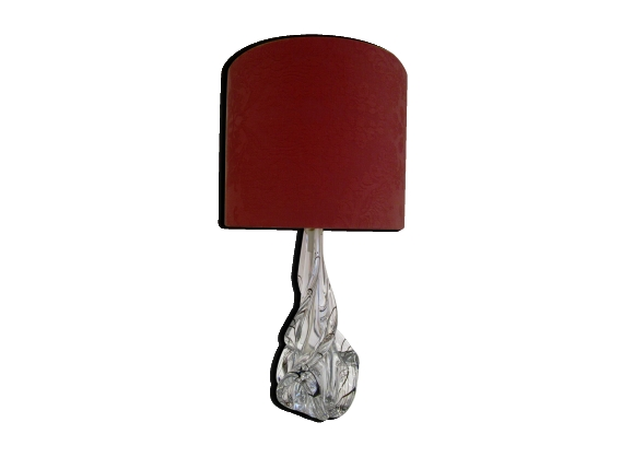 Lampe à poser en cristal JB France années 50 60