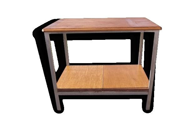 Table d'appoint industrielle Métal Galvanisé et Bois