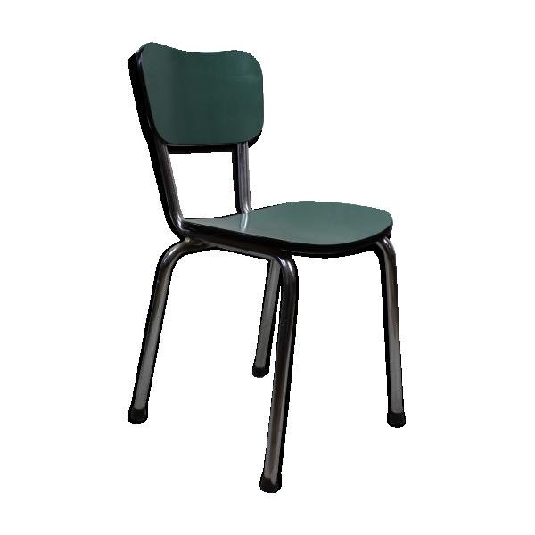 Chaise en formica bleu vert turquoise formica bleu for Chaise longue bleu turquoise