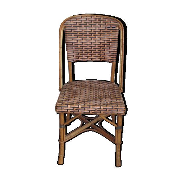 chaise bistrot en rotin rotin et osier marron dans. Black Bedroom Furniture Sets. Home Design Ideas