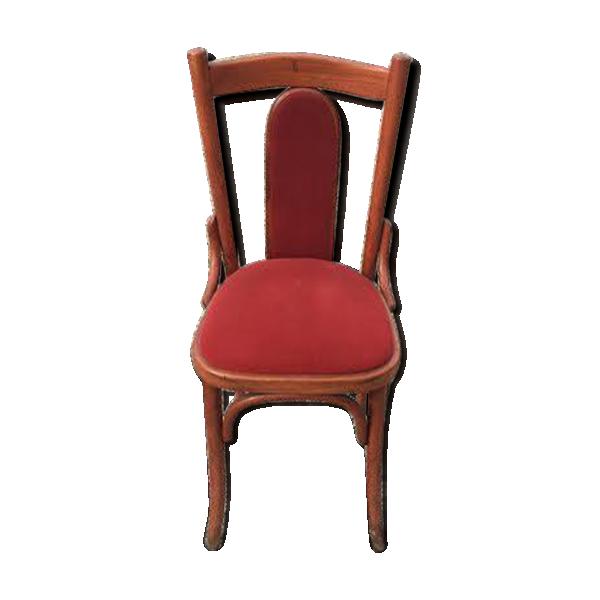 chaise de restaurant rouge bois mat riau rouge bon tat vintage. Black Bedroom Furniture Sets. Home Design Ideas