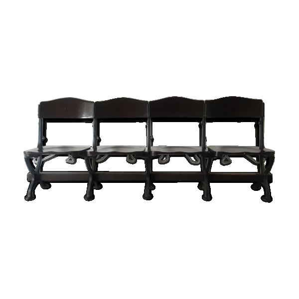 banquette de cin ma fonte noir bon tat vintage de1cf0284e5031769e39147f043db67a. Black Bedroom Furniture Sets. Home Design Ideas