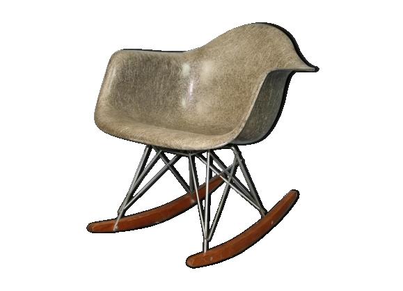 Rocking chair rar gris elephant grey Eames Herman Miller