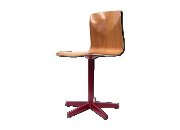 chaise industrielle pagholz 60s bois mat riau bois couleur bon tat design. Black Bedroom Furniture Sets. Home Design Ideas