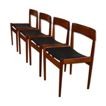 chaise en teck vintage d 39 occasion. Black Bedroom Furniture Sets. Home Design Ideas