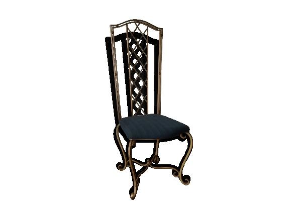 Exceptionnelle chaise baroque des années 40