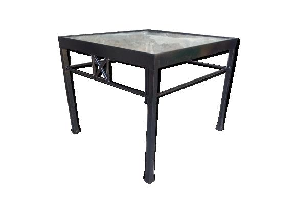 Table basse en fer forgé - miroir