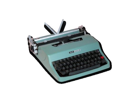 Machine à écrire OLIVETTI lettera 32 vert d'eau