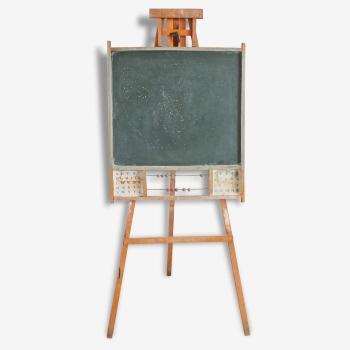 tableau noir d cole enfant sur pieds vintage jeujura m tal orange bon tat vintage 132595. Black Bedroom Furniture Sets. Home Design Ideas