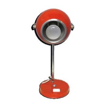 Lampe boule orange année 70