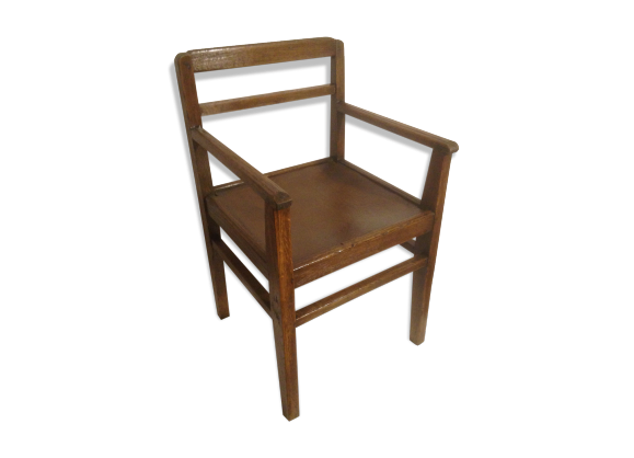 fauteuil enfant ann e 20 en bois assise dans son jus bois mat riau bois couleur dans. Black Bedroom Furniture Sets. Home Design Ideas