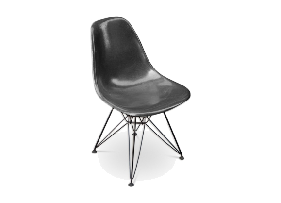 Chaise DSR de Charles & Ray Eames édition Herman Miller pied Eiffel 1960