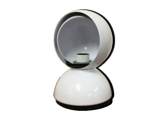 Lampe de bureau blanche 'Eclisse' par Vico Magistretti pour Artemide 1960s