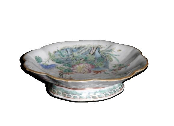 Coupe à fruit en porcelaine de Chine, Canton, mi XIXème
