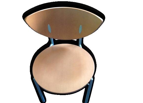 Lot de 6 Chaises design bois massif