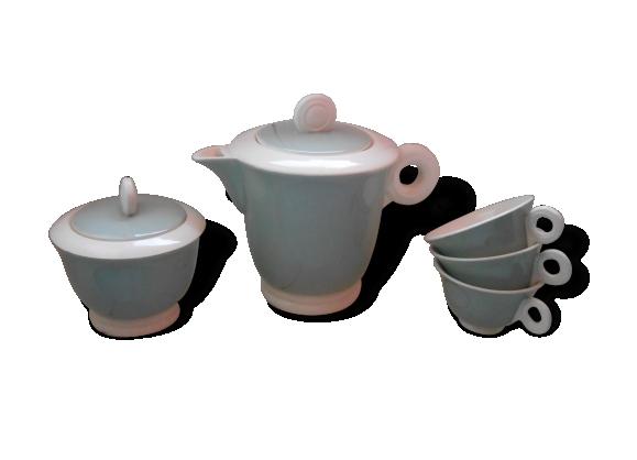 Cafetière, pot à sucre et tasses Digoin