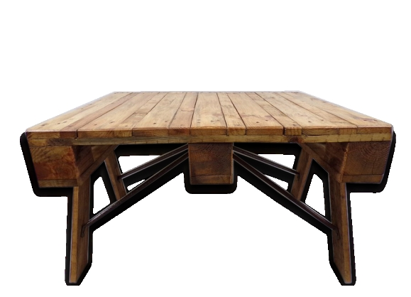 Table basse industrielle bois métal - loft -