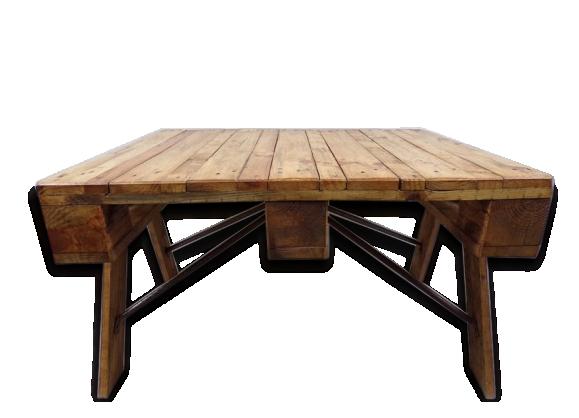 Meuble industriel bois - Table basse metal industriel loft ...
