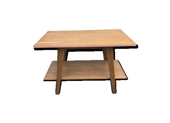 Table basse vintage à double plateaux