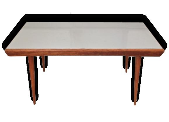 Table basse gris perle des années 60