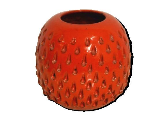 Boule Rotin Decoratif Rouge  Cm