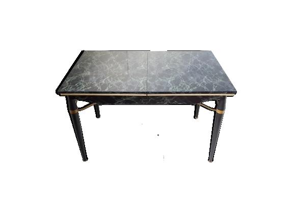 Table de repas en formica, bois et métal des années 50