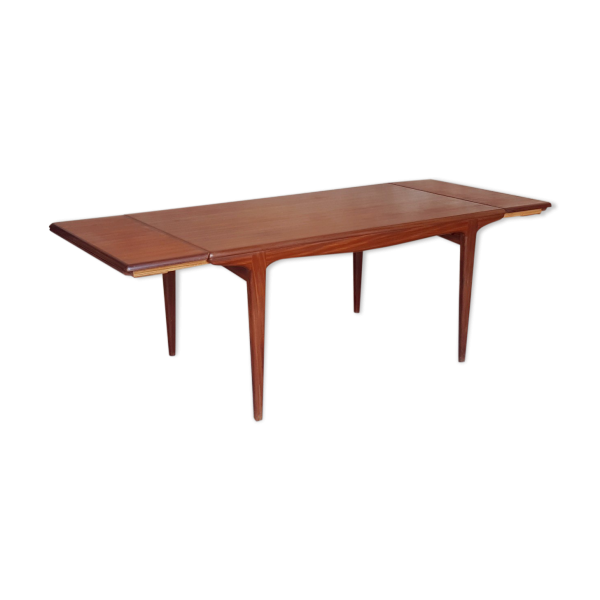 Table rallonges scandinave en teck andersen teck for Table a rallonge scandinave