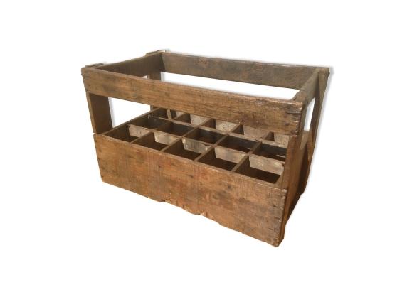 casier caisse vin en bois 15 bouteilles dans son jus vintage bois mat riau bois couleur. Black Bedroom Furniture Sets. Home Design Ideas
