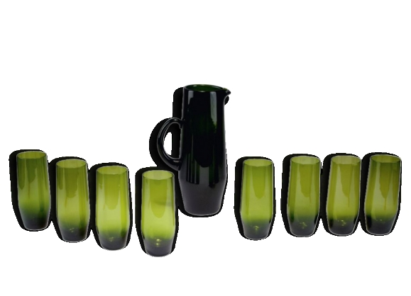 Cruche et 8 verres scandinaves par Gunnar Ander Scandinavian Jug & 8 Glasses